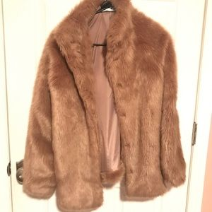 Tan Furry Jacket Forever 21